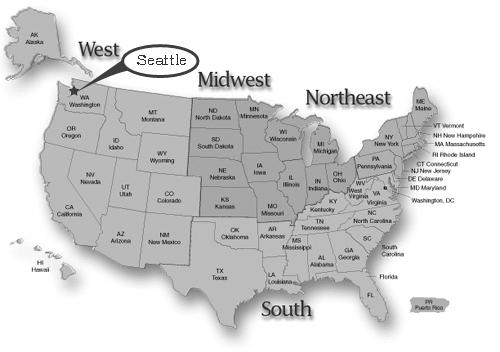 seattle usa map